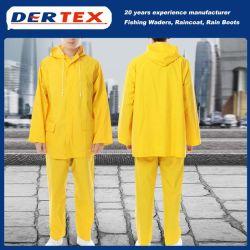 Material de nylon resistente à prova de segurança Segurança reflexivo casaco chuva prensa
