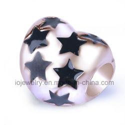 Cadeau de Noël coeur étoilé Bijoux Perles métalliques personnalisées