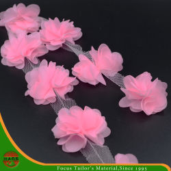 Hans-Fabrik direkt Sell Rosa färbt Satin-Blumen für Dekoration