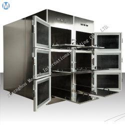 Congelatore mortuario dell'obitorio del frigorifero del dispositivo di raffreddamento mortuario dell'acciaio inossidabile dell'ospedale