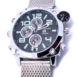 Full HD 1080P waterbestendige Compass camera Watch ingebouwde 8 GB Digital Camera voor de videorecorder met polshorloge