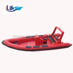 Ilife Tシリーズ堅い外皮のFirberglass作業セリウムが付いている膨脹可能な釣スポーツFRPの救助艇深いVの鋭いシャチ828/Redファブリック