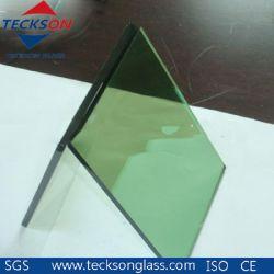 着色された塗られた明確な水晶金青銅色の灰色の青緑の真黒のライトによって染められる反射浮遊物の建物の板ガラスの卸売Teckson