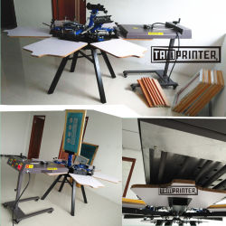 Imprimante Manuelle D'écran de TM-R6 6-Color Texitile pour le T-shirt avec la Racle