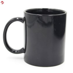 11oz 블랙/블루 히트 컬러 머그컵 프로모션