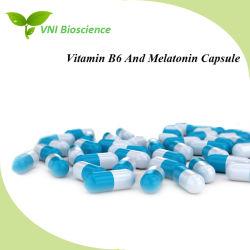 ISO SGS Certified vitamina B6 e cápsula de melatonina