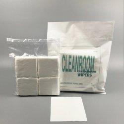 Microfiberの使い捨て可能なリント・フリー布の極度の吸収ポリエステルクリーンルームワイパー