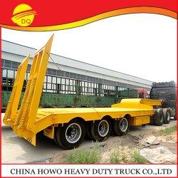 Fuwa 3 мост 60 тонн малой высоты кровати Semi-Trailers погрузчика емкости прицепа автомобиля 40t тип Excavat для продажи