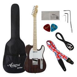 Aiersi Style Solide marque Zebrano Tele Tl guitare électrique pour la vente