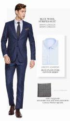 ファッションビジネスの偶然の人の上のスーツ3つの部分の一定の(Jacket+Pants+Vest)形式的な結婚式のスーツの新郎の男性のブレザーの細い適合