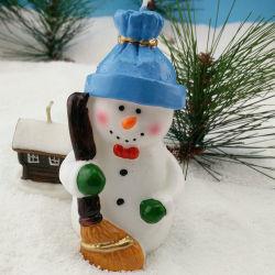 Año nuevo muñeco de nieve vela decorativa