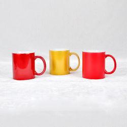 Logotipo personalizado de la Copa de cerámica taza de esmalte color porcelana