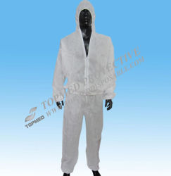 Nonwoven устранимая защитная куртка с кальсонами, Nonwoven работая форма куртки, костюмы куртки