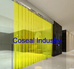 Porta de PVC fita de PVC transparente de porta flexível de plástico Anti-Instatic Cortina de faixa