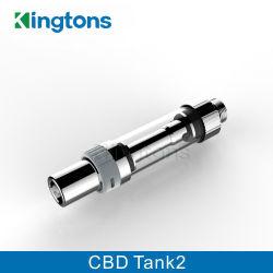L'atomiseur de pétrole de Cbd du réservoir 2 de contrôle de flux d'air de cartouche le plus neuf de Kingtons