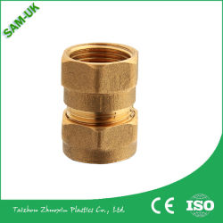 Los racores de compresión de latón de montaje del tubo de Acoplamiento de tubo de cobre y accesorios
