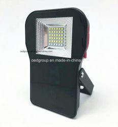 コンパスおよび力バンクおよび白およびRGBの再充電可能なスポットライトを薄暗くするUSBポートと有料携帯用多機能10W LEDのフラッドライトIP65