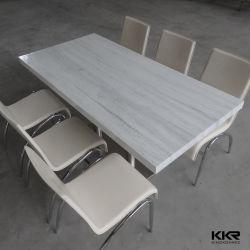 Möbel-künstlicher fester OberflächenMarmorierungabendtisch für Restaurant191007