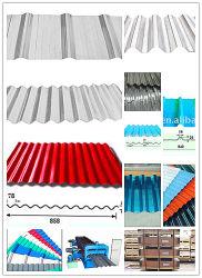 Цветные алюминиевого листа крыши из гофрированного картона (A1050 1060 1100 3003 3105 8011)