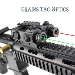 새로운 MIL-Std 전술 사냥 라이플 이중 빔 녹색 레이저 조준기 시력과 레드 조준 레이저 범위