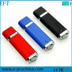 Logotipo personalizado Flash Memory Stick de plástico da unidade flash USB (ET366)