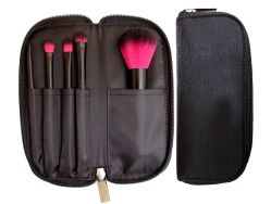 Reeks van de Borstel van de Make-up van de Borstel van het Haar van twee Tonen de Nylon Kosmetische