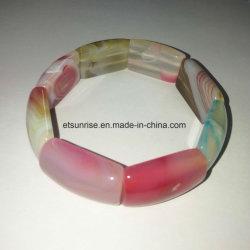 Piedra semi preciosa pulsera de cristal biselado Carnelian Natural