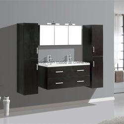 / Venda quente mobiliário MDF, Taça Duplo banheiro vaidades