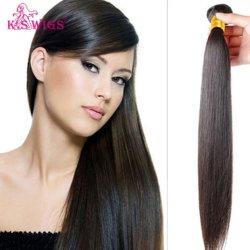 K. S pelucas de cabello virgen brasileño en bruto de extensión de cabello humano.