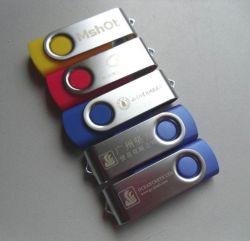 O logotipo personalizado impresso barato populares gire o cartão USB