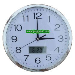 Visor LCD do dia e a data do relógio de parede do Calendário