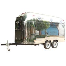 Le centre commercial rapide personnalisé commode de distributeurs automatiques de la crème glacée électrique coffre mobile des boissons froides de la rue un fonctionnement facile Cuisine barbecue Shop Mobile remorque camion alimentaire