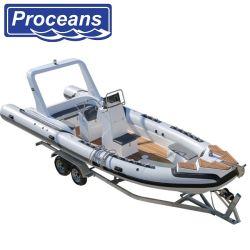 7,6 m/25pies/PVC Hypalon costilla Barco/Power Boat/barco de motor/velocidad/barco barco de pesca