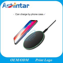 9V Lader 10W Qi van de Telefoon van de 2A de Slimme Snelle Lader Qi Mobiele Draadloze Lader voor iPhone