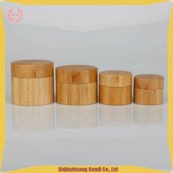 De vrije Plastic Container van het Bamboe van de Kruik van de Room van het Bamboe van de Steekproef Houten Kosmetische Verpakkende
