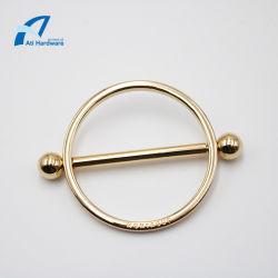 La luz de aleación de zinc forma de círculo de oro de Hardware de accesorios de la Bolsa de Metales decorativos