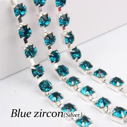 Crystal Pointback Rhinestone cadeia para Definição de jóias