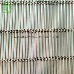 La arquitectura de la malla de cable de acero inoxidable ues para fachadas, techos para protegerse del sol o balaustrada de relleno