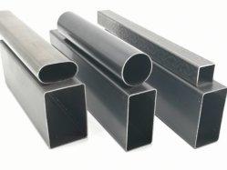 ERW 가구를 위한 까만 둥글거나 정연하고 또는 직사각형 또는 타원형 강철 관
