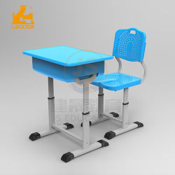 Clssroom ajustável Furniutre Turismo aluno cadeira de mesa com PP topo