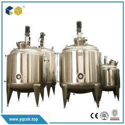 Fermenteur de stockage du lait de l'eau de refroidissement de la pression de l'agitateur de mixage d'extraction de fermentation Cuve en acier inoxydable