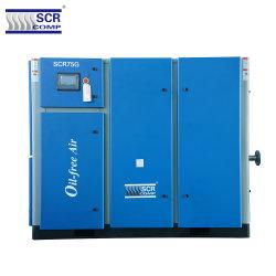 2019 Hot Sale (SCR75G series) vis exempts d'huile compresseur à air de la technologie allemande entraînée par prise directe 7 bars à 12,5 bar Haute Performance Industrielle rotatif