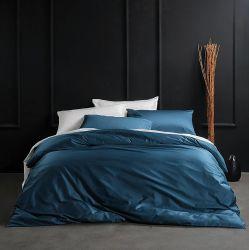 Grapas largas de color sólido tejido transpirable suave satén de seda ropa de cama de calidad Pima