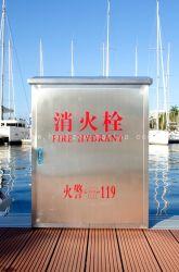 L'équipement de lutte contre les incendies en acier inoxydable de l'extincteur poteau incendie avec bague de la vie