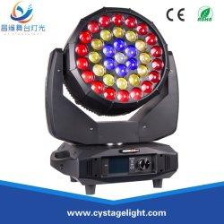 Профессиональные RGBW 37X15W 4в1 индикатор зума промойте перемещение головки освещения сцены