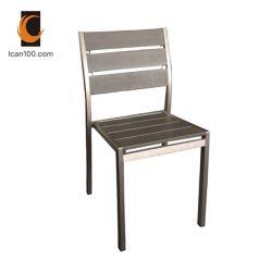 Résistant aux UV à l'extérieur en bois rustique moderne en bois de teck chaise de salle à manger de mariage (PWC-15091)