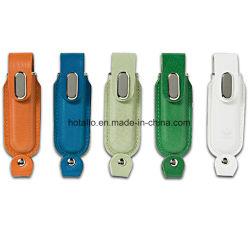 Bâton de mémoire flash USB en cuir classique Stylo conducteur