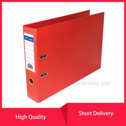 Uma alavanca de PVC de alimentação de escritório3 Caixa de cava-de-pasta de arquivo com 2 Ring Binder Clip