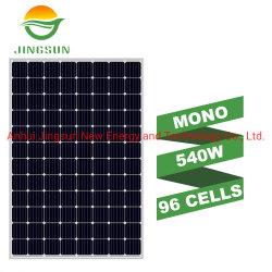لوحة شمسية أحادية اللون عالية الكفاءة ذات 96 خلية بقدرة 540 واط مزودة بالشمس بقدرة 540 واط مع 25 ضمان السنوات