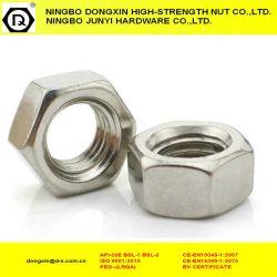 Aço carbono revestido de zinco Porcas Sextavadas fixadores com DIN934